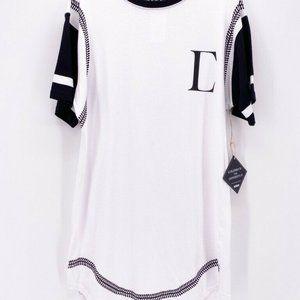 Civil Regime Mens Drop Tee T-Shirt White Black M